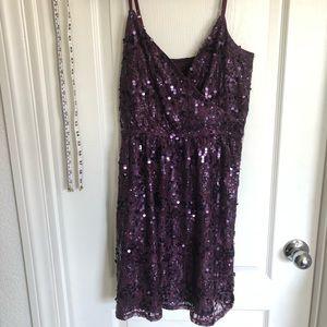 Express Burgundy/Purple sequins dress